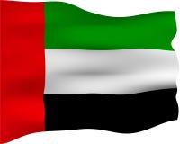 bandeira 3D de United Arab Emirates Fotografia de Stock