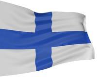 bandeira 3D finlandesa Fotos de Stock Royalty Free