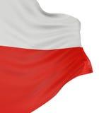 bandeira 3D polonesa ilustração do vetor