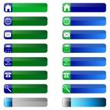 A bandeira abotoa ícones da Web. Fotos de Stock