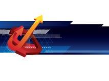 Bandeira abstrata Imagem de Stock Royalty Free