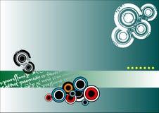 Bandeira abstrata com círculos Imagens de Stock