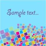 Bandeira abstrata com quadrados coloridos Imagem de Stock