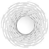 Bandeira abstrata do círculo com lugar para o texto ilustração royalty free