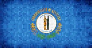Bandeira abstrata do mosaico do grunge de Kentucky ilustração do vetor