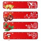 Bandeira abstrata do Natal ilustração stock