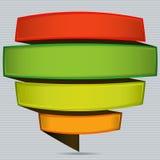 Bandeira abstrata do origâmi. Elemento do projeto. Imagens de Stock