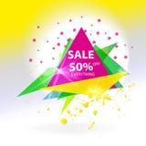 Bandeira abstrata do triângulo da venda do vetor Fotografia de Stock