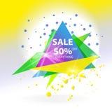 Bandeira abstrata do triângulo da venda do vetor Imagem de Stock
