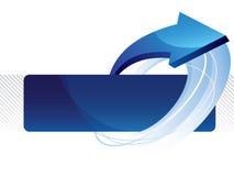 Bandeira abstrata do vetor Imagens de Stock Royalty Free