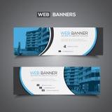 Bandeira abstrata do vetor para o molde da Web ou o uso da cópia como o fundo do encabeçamento Imagem de Stock
