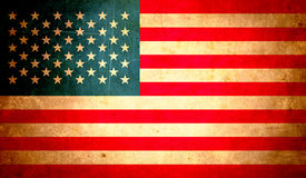Bandeira abstrata dos EUA, projeto do fundo do grunge Fotografia de Stock