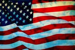 Bandeira abstrata dos EUA que acenam, bandeira americana Imagem de Stock