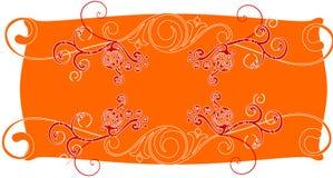 Bandeira abstrata floral Foto de Stock