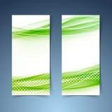 Bandeira abstrata moderna ecológica do swoosh Imagem de Stock