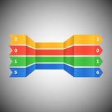 Bandeira abstrata pelo ano novo feliz 2016 Imagens de Stock