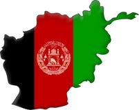 Bandeira Afeganistão Fotos de Stock