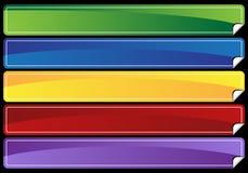 Bandeira ajustada - espaço em branco ilustração royalty free