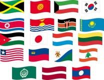 A bandeira ajustou - a parte 7/12 - as letras J, K e L Foto de Stock