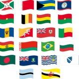 A bandeira ajustou-se - a parte 2/12 - rotula B Imagens de Stock