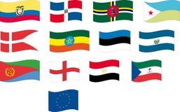 A bandeira ajustou-se - a parte 4/12 - rotula D e E Fotos de Stock Royalty Free