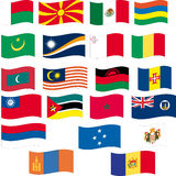 A bandeira ajustou-se - a parte 8/12 - rotula M Imagens de Stock