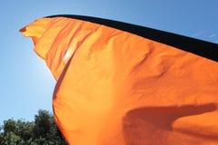 Bandeira alaranjada Imagens de Stock