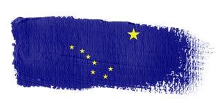 Bandeira Alaska do Brushstroke ilustração stock