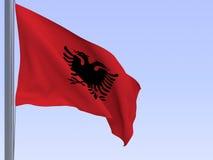 Bandeira albanesa Foto de Stock Royalty Free