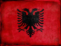 A bandeira albanesa Fotos de Stock
