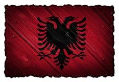 Bandeira albanesa Imagem de Stock Royalty Free