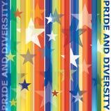 Bandeira alegre do arco-íris Fotos de Stock