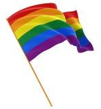 Bandeira alegre do orgulho do arco-íris ilustração royalty free
