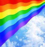 Bandeira alegre ou de bandeira de LGBT sinal Fotografia de Stock