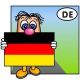 A bandeira alemão Imagem de Stock