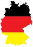 Bandeira alemão no mapa do país Foto de Stock
