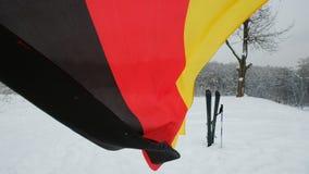 Bandeira ALEMÃO Textured do algodão do cetim com enrugamentos e emendas video estoque