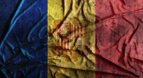 Bandeira amarrotada Grunge de Andorra rendição 3d Imagens de Stock