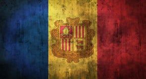 Bandeira amarrotada Grunge de Andorra rendição 3d Imagens de Stock Royalty Free