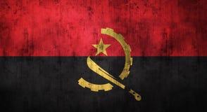 Bandeira amarrotada Grunge de Angola rendição 3d Imagem de Stock
