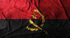 Bandeira amarrotada Grunge de Angola rendição 3d Foto de Stock Royalty Free