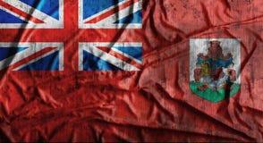 Bandeira amarrotada Grunge de Bermuda rendição 3d Foto de Stock