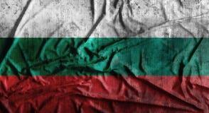 Bandeira amarrotada Grunge de Bulgária rendição 3d Fotografia de Stock