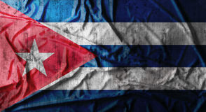 Bandeira amarrotada Grunge de Cuba rendição 3d Foto de Stock