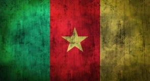 Bandeira amarrotada Grunge de República dos Camarões rendição 3d Fotos de Stock