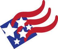 Bandeira americana abstrata Imagens de Stock