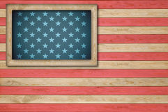 Bandeira americana abstrata Imagens de Stock Royalty Free