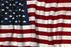Bandeira americana antiquado Fotografia de Stock Royalty Free