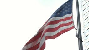 Bandeira americana Close-up video estoque