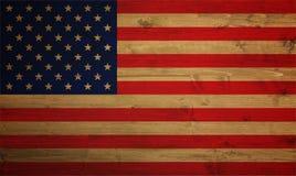 Bandeira americana coberta com a textura do grunge - imagem fotos de stock